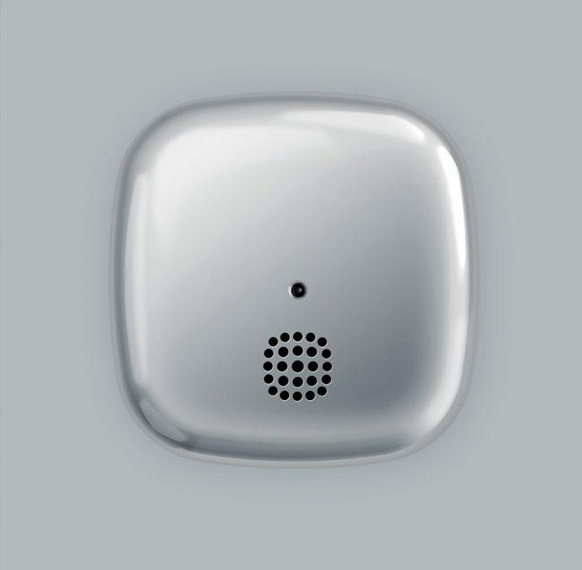 Kupu Chrome smoke alarm top